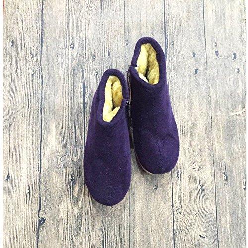 coton coton à de Faits Chaussure 37 de coton chaussures Main coton antidérapantes un Sac coton velours chaud plus chaussons nbsp; chaussures Hiver avec Par Chaussures vieil de épais Femme homme chaussures qfzwzE