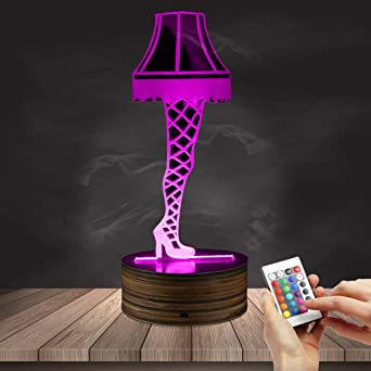 3D Optical Illusion Leg Lamp From A Christmas Story Sexy Silk Stockings LED Night  Light Table