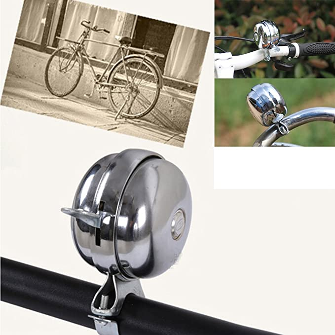 CLASSIC RING BIKE BICYCLE BELL MOUNTS TO HANDLE BARS CHROME