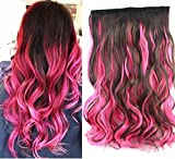 "20"" Curly Two Colors Ombre Hair Extensions, One"