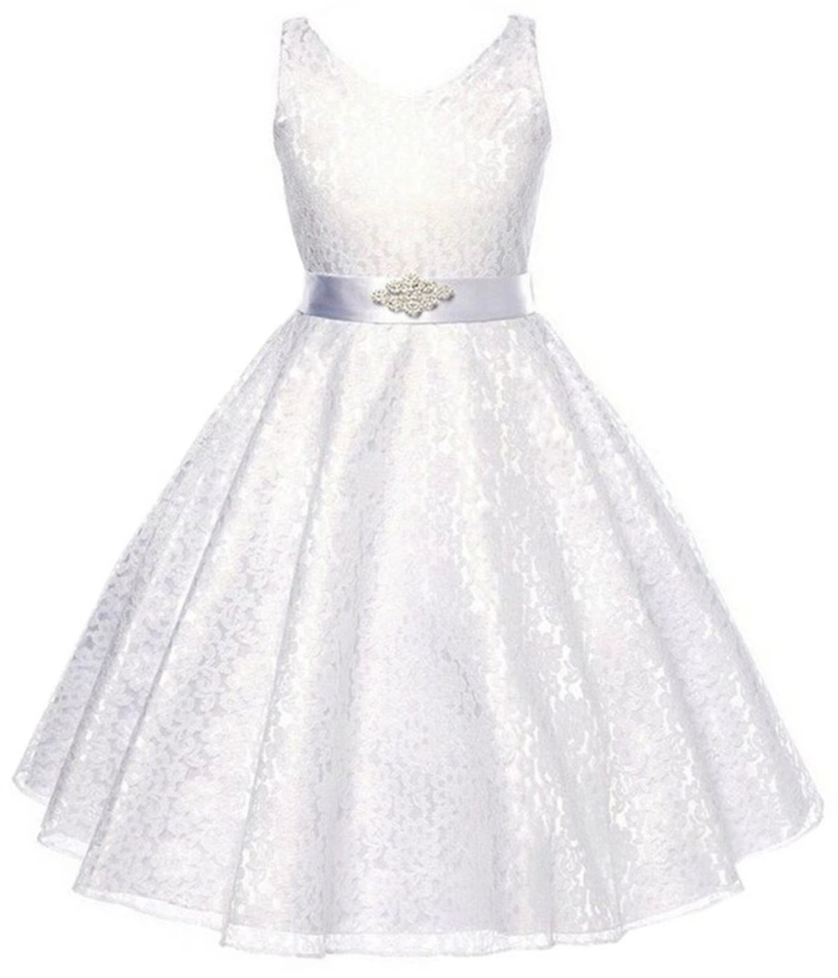 Betusline Girls' Lace Dressy Dress With Belt (2-10 Years)