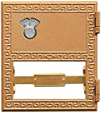 Salsbury Industries 2052CL Replacement Door and Lock Number 2 Size for Mailbox with Combination Lock, Brass