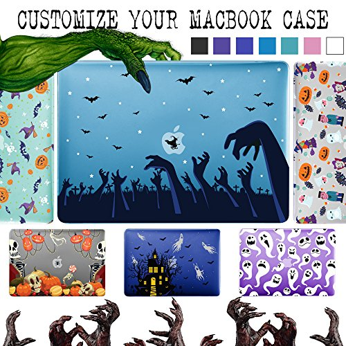 GMYLE Create Your Own Halloween MacBook Case Soft-Touch Plastic Hard Case Custom Cover for MacBook Air 13 inch (Model: A1369 & A1466) - Halloween Pattern Custom Plastic Cases