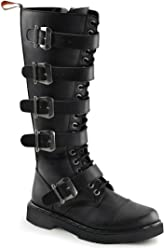 01b14e4fb272 Summitfashions Mens Tall Combat Boots Black Vegan Leather Boots Lace Up  Buckles Mens Sizing