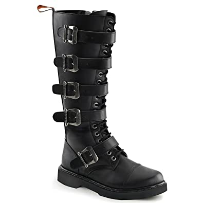 Amazon.com | Mens Tall Combat Boots Black Vegan Leather Boots Lace ...