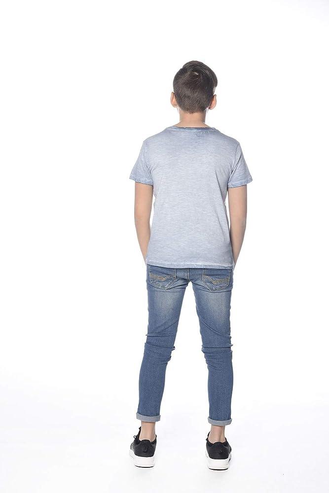 Deeluxe - Camiseta de Manga Corta - relajación - para niño Azul Celeste 14 años: Amazon.es: Ropa y accesorios