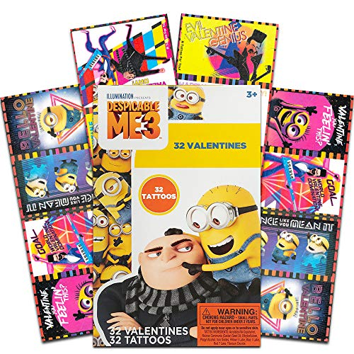 Valentine's Day Cards Despicable Me Minions Licensed Cartoon Character , 32-ct.]()