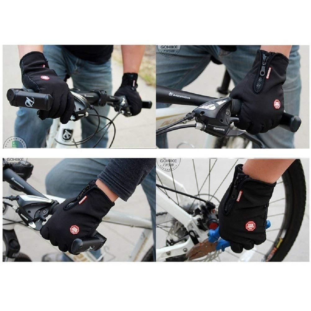 Guantes de Ciclismo Impermeable Antideslizante de Silicona Guantes de Invierno Calientes a Prueba del Viento Sunshine D Guantes para Pantalla T/áctil para Mujer y Hombre
