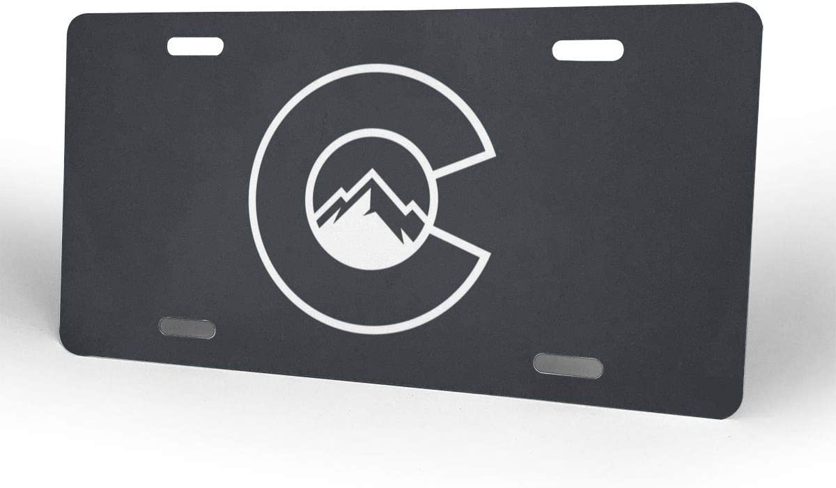 Nizheng Colorado Flag C with Mountains Universal Front Bumper License Plate 6 X 12