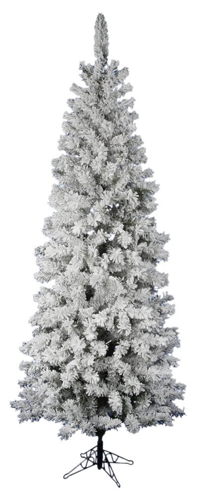 Vickerman Flocked Pacific Artificial Christmas Tree with 500 Multi-Colored LED Lights, 8.5' x 40''