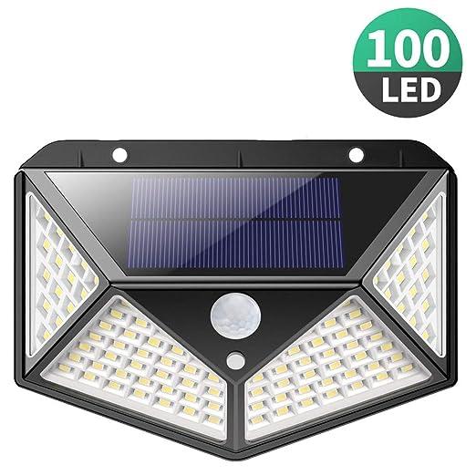 Sensore Di Movimento Per Luci Esterne.Luce Solare Led Esterno 270 Angolo Illuminazione 100led Lampada Solare Con Sensore Di Movimento Luci Esterno Energia Solare 3 Modalita Lampade Solari