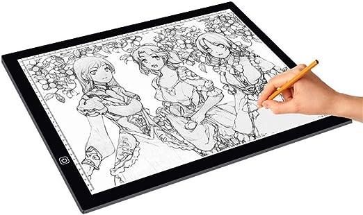 Heman779t Dibujo de la Caja de luz, A3 Light Box LED Copy Board Drawing Light Pad con Cable USB, Art Craft Drawing Tracing Tattoo Board para Artistas, Dibujo, Animación, Bocetos, Diseño: Amazon.es: