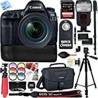 Canon EOS 5D Mark IV 30.4 MP Digital SLR Camera + EF 24-70mm f/4L IS USM Lens with 128GB Memory & Dual Battery Power Bundle