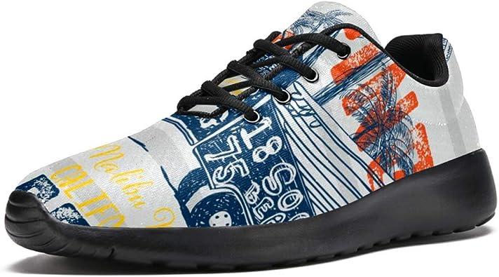 Zapatillas de running para mujer, ligeras, para caminar, correr, deportes, retro, de verano, estampado tropical: Amazon.es: Zapatos y complementos
