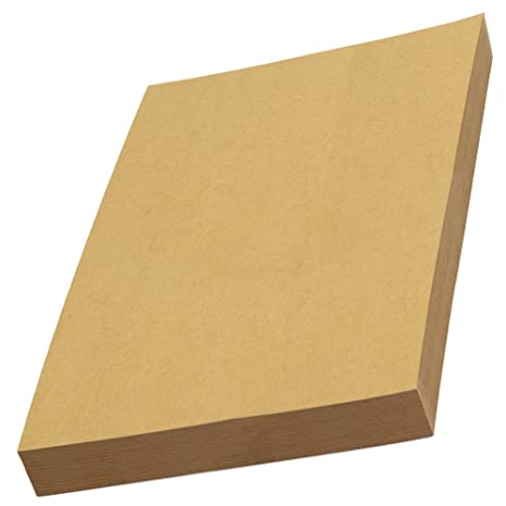 Amazon com : LIWUTE Recycled Natural Dark Brown kraft card A4 180