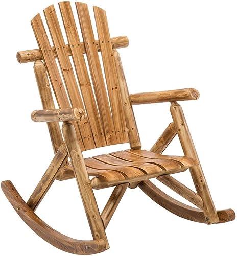 Deal of the week: DJL Antique Wood Outdoor Rocking Log Chair Wooden Porch Rustic Log Rocker