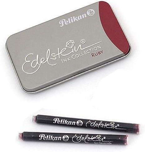 Pelikan 339663 Gtp 6 Tintenpatronen Edelstein Ink Im Metalletui Ruby Rot Bürobedarf Schreibwaren