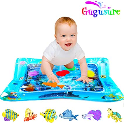 Inflatable Baby Water Mat Play for Kids Children Infants Outdoor Best Tummy Time