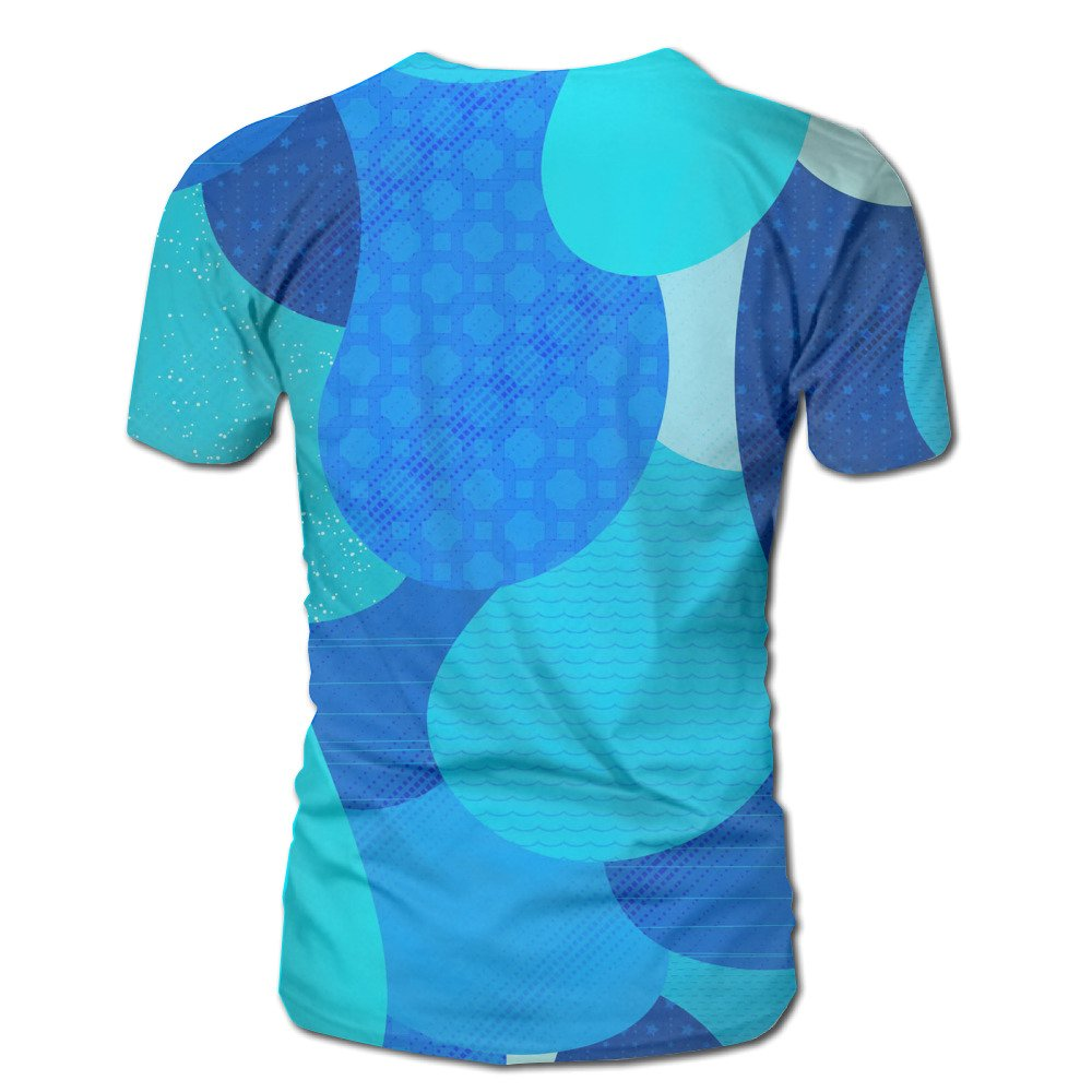 99970f6a20c2 GJPOO Blue Water Drops Unisex 3D Print Casual Short Sleeve T-Shirt Stylish  Design Mens Tee