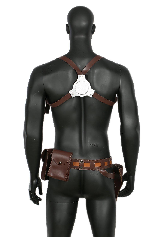 Halloween Gürtel Cosplay Mara Damen Schultergurt Brauner Bund mit Holster Tasche