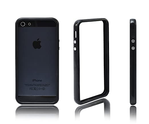 4 opinioni per Xcessor Custodia Bumper Classic per Apple iPhone SE / 5 / 5S. Bottoni Metallici.