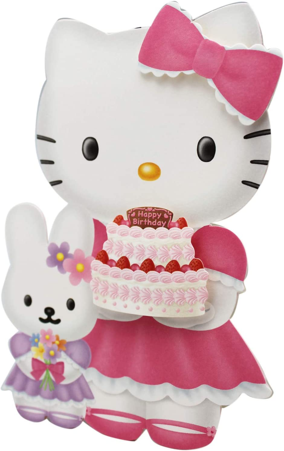 Terrific Amazon Com Hello Kitty And Bunny Birthday Cake And Flowers Part Personalised Birthday Cards Cominlily Jamesorg