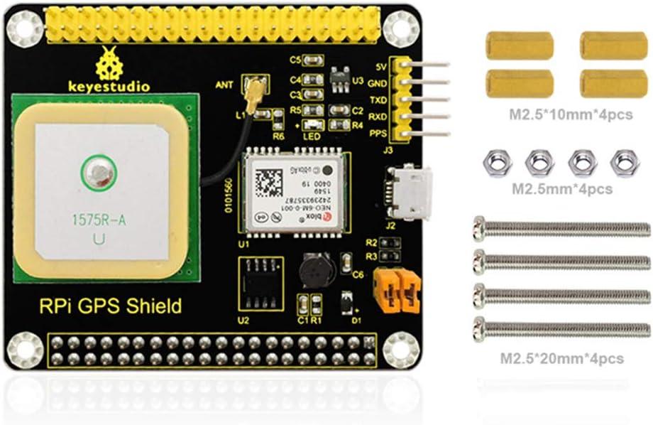 KEYESTUDIO for Raspberry Pi GPS Shield Ublox NEO B una antena