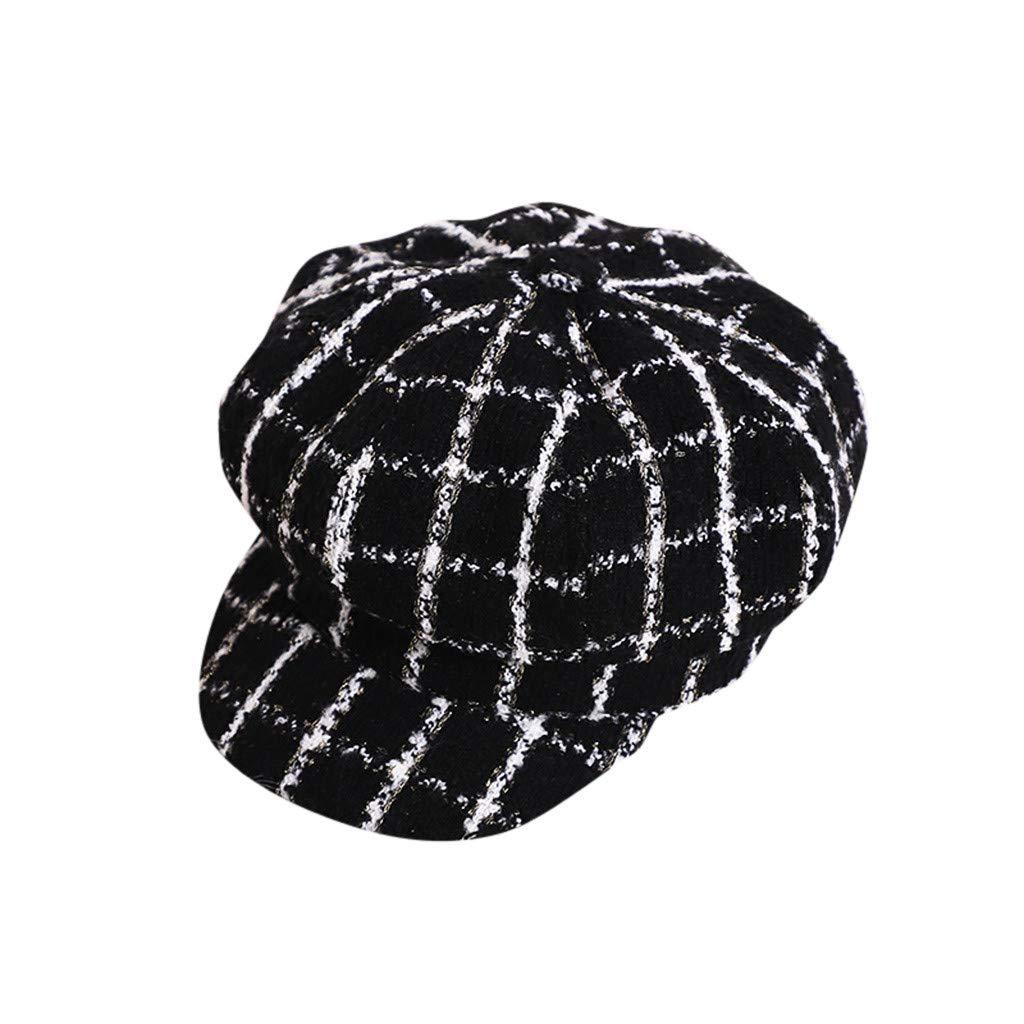 Gorra de Boina para beb/és ni/ña Oto/ño e Invierno a Cuadros Gorra c/álida y c/ómoda Boina Sombrero de Vestir de Fiesta