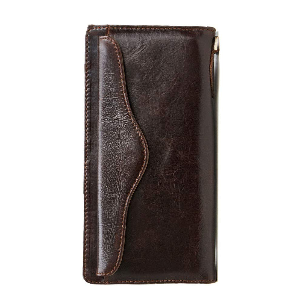 Myzixuan New Leather Mens Wallet Multi-Card Business Casual Long Handbag Vintage 0 Wallet Mens Wallet 11201.5cm