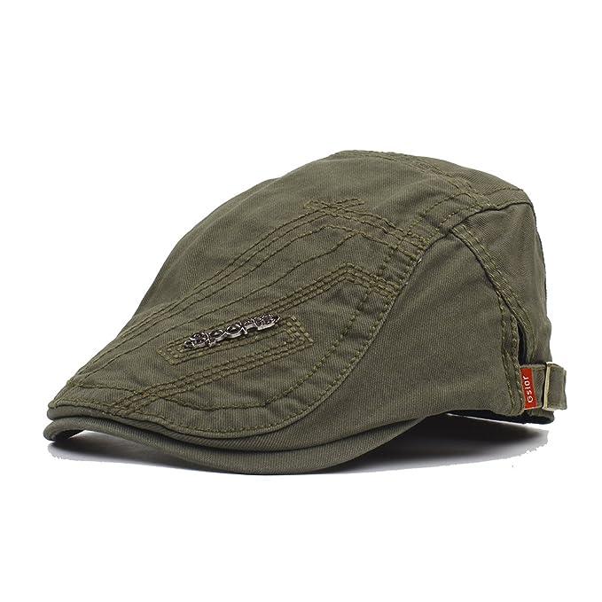 Sombreros Beret Hombre Flat Cap,De Primavera Verano Y Otoño De Ocio Al Aire Libre