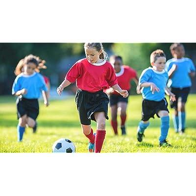 """(Pack de 20) Fútbol PVC deportivo Shoot 22,5 cm o 8,5 """"(vacío) para fiestas y juguetes infantiles. Apto para interior y exterior - colores surtidos.: Deportes y aire libre"""