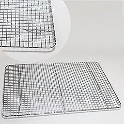 Huji Cross-Wire Grid Cooling Rack, Wire Pan Grate,Baking Rack, Icing Rack, Chrome Plated Steel, (17\