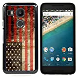 Graphic4You Vintage American Flag of United States of America Design Hard Case Cover for Google Nexus 5X