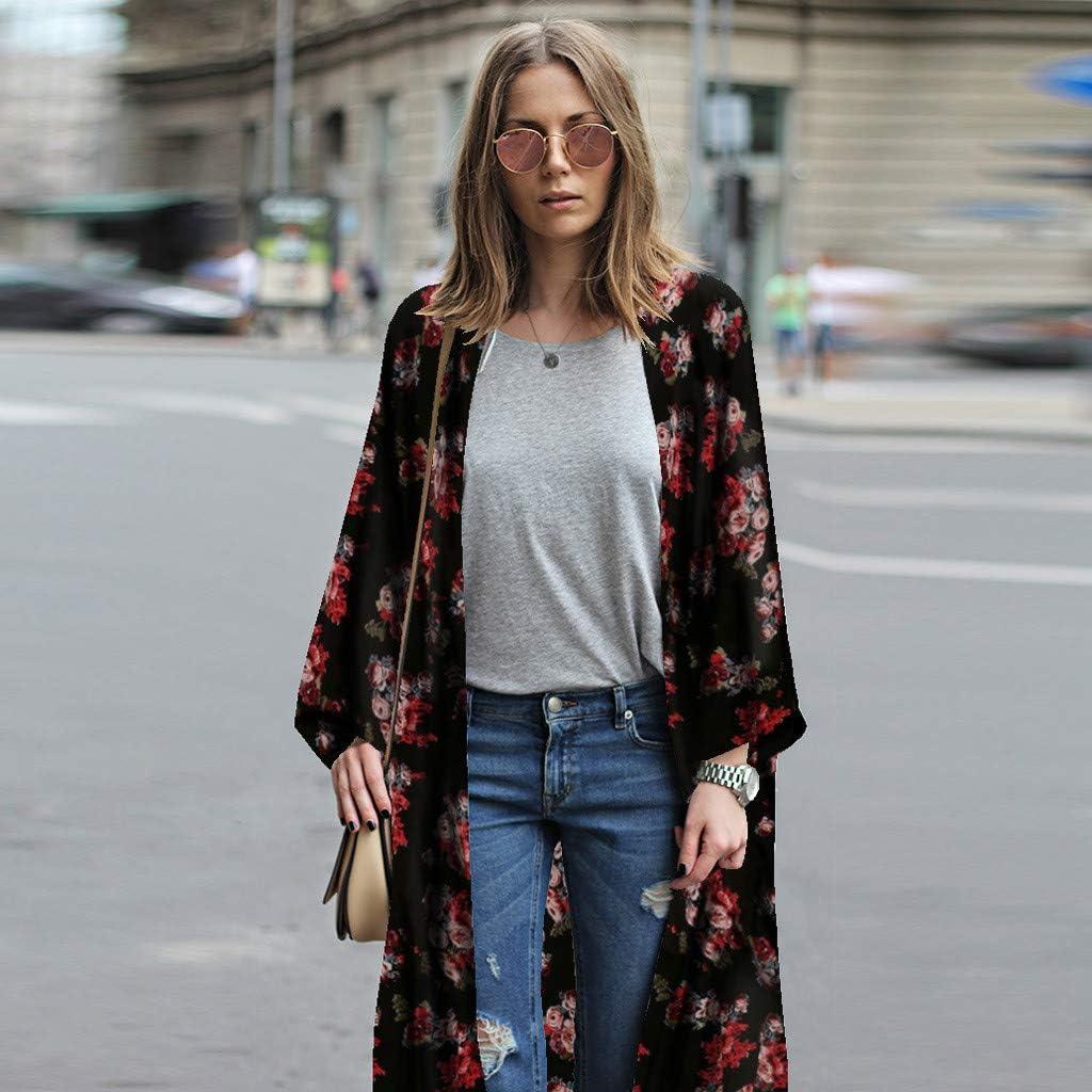 Sumen Fashion Women Chiffon Shawl Kimono Cardigan Top Cover Up Blouse Beachwear