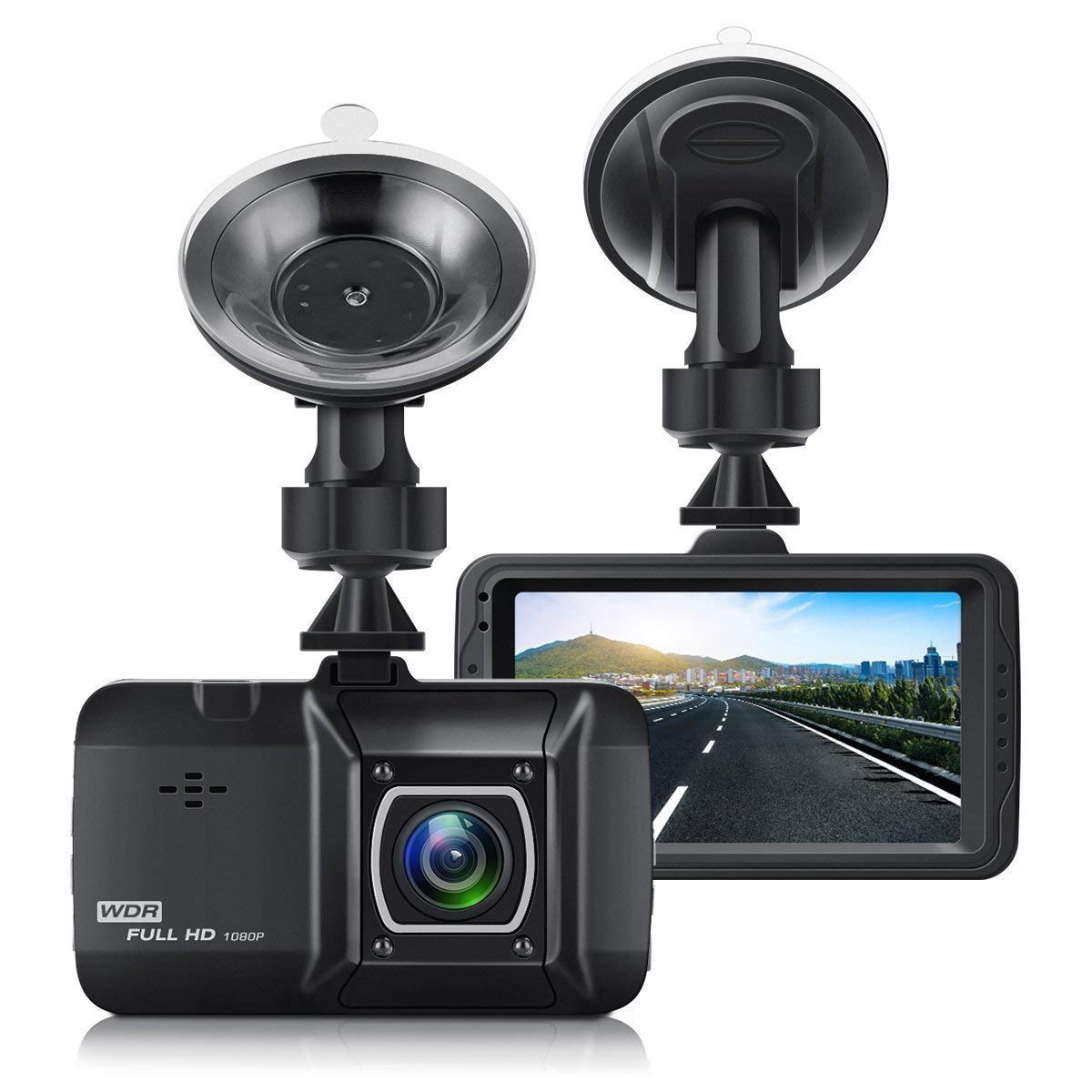 Dash Cam for Cars, EIVOTOR 1080P Front Driving Video Recorder with 170° Wide-Angle Lens, 3.0'' Dashboard Camera Recorder with G-Sensor, WDR, Loop Recording and Night Vision Black 3.0'' Dashboard Camera Recorder with G-Sensor EIVOTORRTDuQlu9i