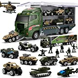 26 Pcs Military Truck with Soldier Men Set