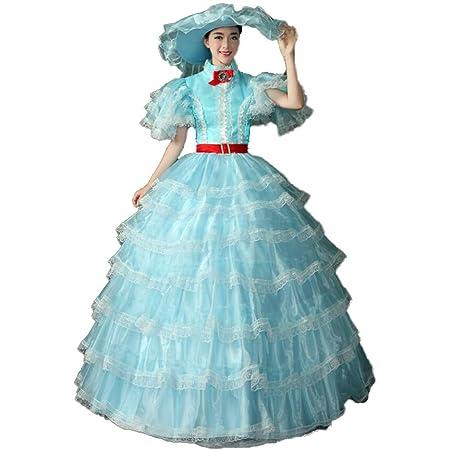 QJXSAN Señora de la Capa Multi-Partido del Vestido del ...
