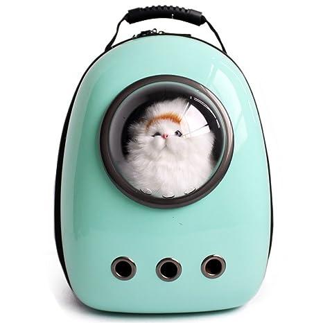 fdd8ccbd011 Vedem Pet Carrier Backpack Transparent Breathable Traveler Bubble Bag for Cat  Dog (Mint Green)