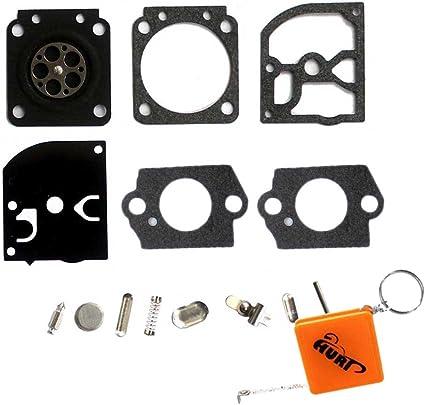 HURI - Kit de juntas y membranas para reparación de carburador de ...