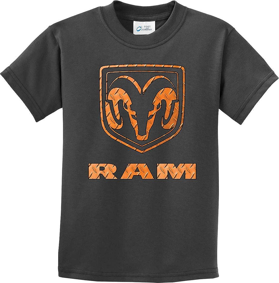 Kids Dodge Ram T-Shirt Diamond Plate Logo Youth Tee