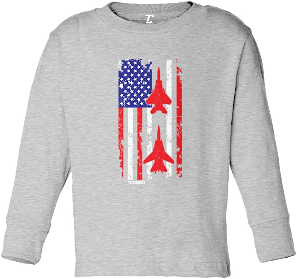 American Flag Jet Stripe USA Air Show Infant//Toddler Cotton Jersey T-Shirt