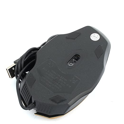 Amazon.com: eDealMax portátil PC ordenador ergonómico 3 Botones de 800 DPI USB Ratones Con Cable ratón óptico Dorado: Electronics