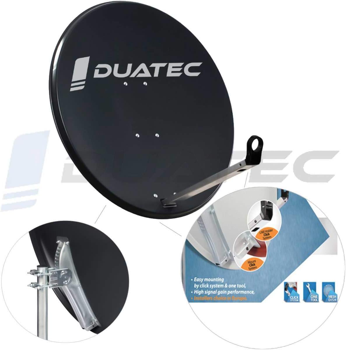 Duatec - Antena parabólica (97 cm): Amazon.es: Electrónica