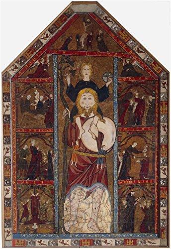The Perfect Effectキャンバスの油絵`匿名Altarpiece of Saint Christopher 14世紀」、サイズ: 12x 17インチ/ 30x 44cm、この美しいアート装飾プリントキャンバスは、フィットのホーム、スタディ装飾アートワークとギフトの商品画像