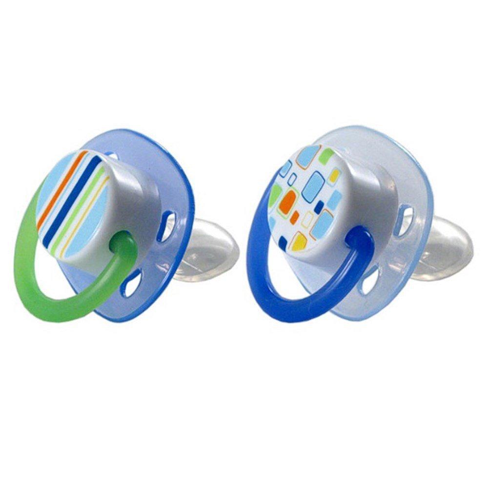 Amazon.com : Silicona ortodoncia Chupete, azul : Baby