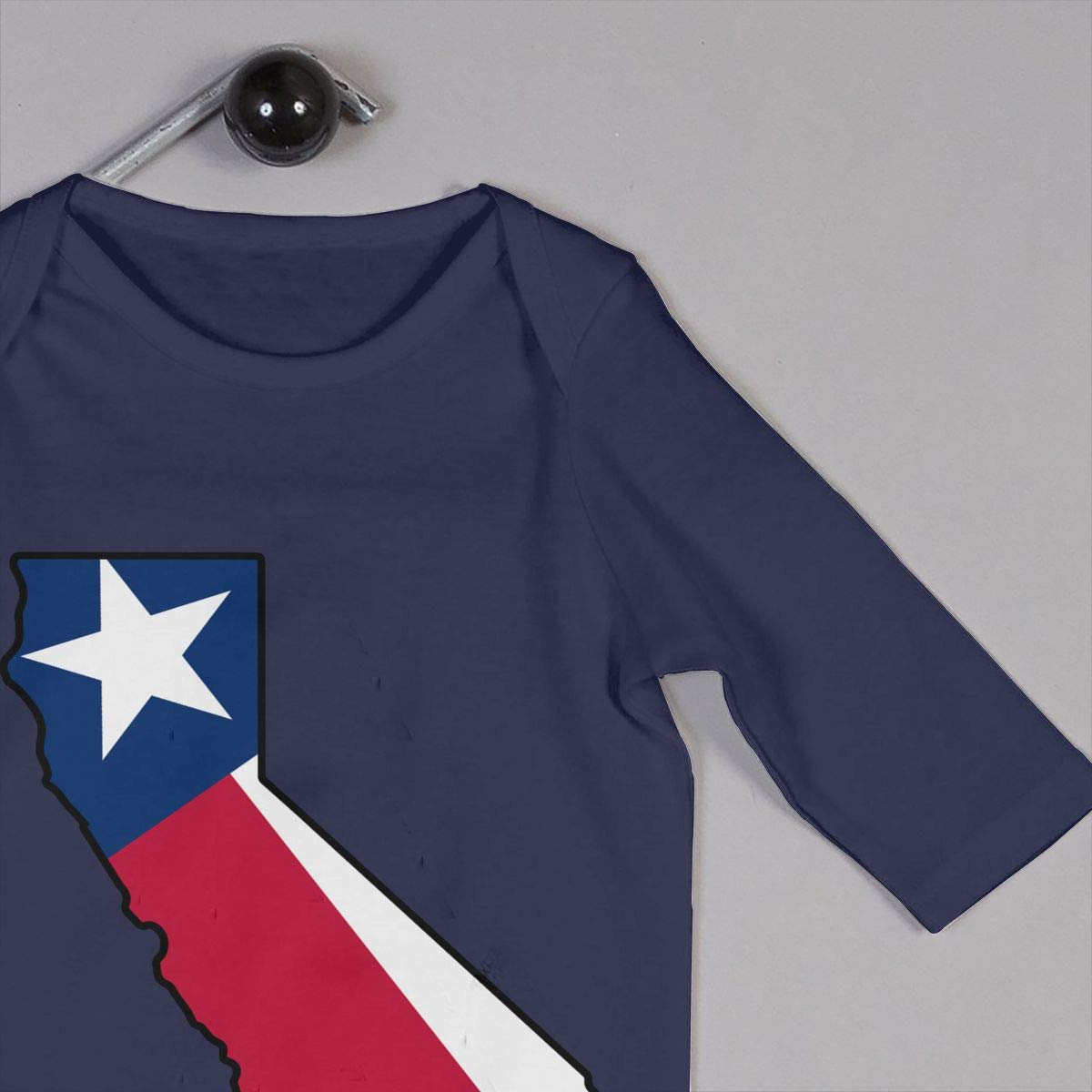 LBJQ8 California Outline Texas Flag Newborn Kids Baby Boys Long Sleeve Romper Pajama Clothes