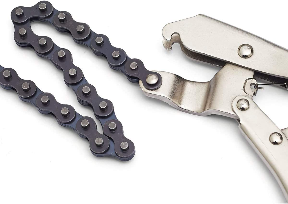 Made with Chrome Vanadium Steel chain and Steel Jaws Chain Vise or Wrench with 20 inch Jetech 10 inch Locking Chain Clamp 50.8cm