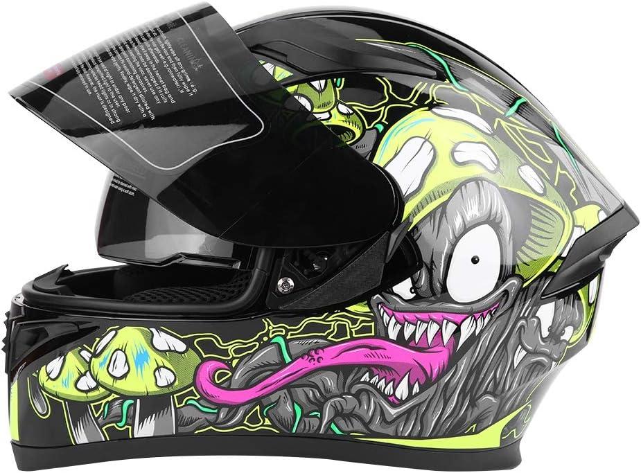 Casque de Securit/è pour Moto Casque Moto Modulable Casque de V/élo Durable Respirant Casque de Protection Partique pour Moto V/élo M