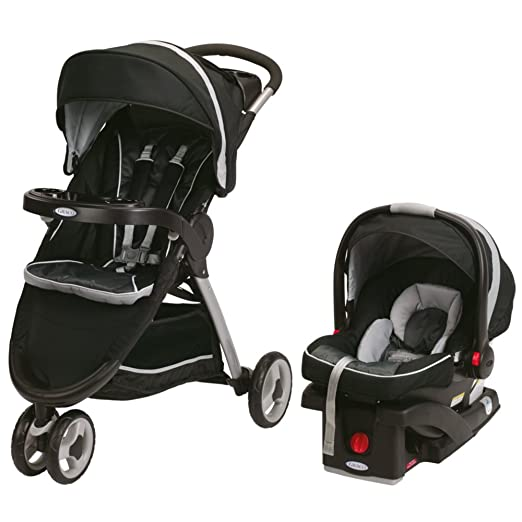 2015 Graco Fastaction Fold Sport Click Connect Travel System, Gotham