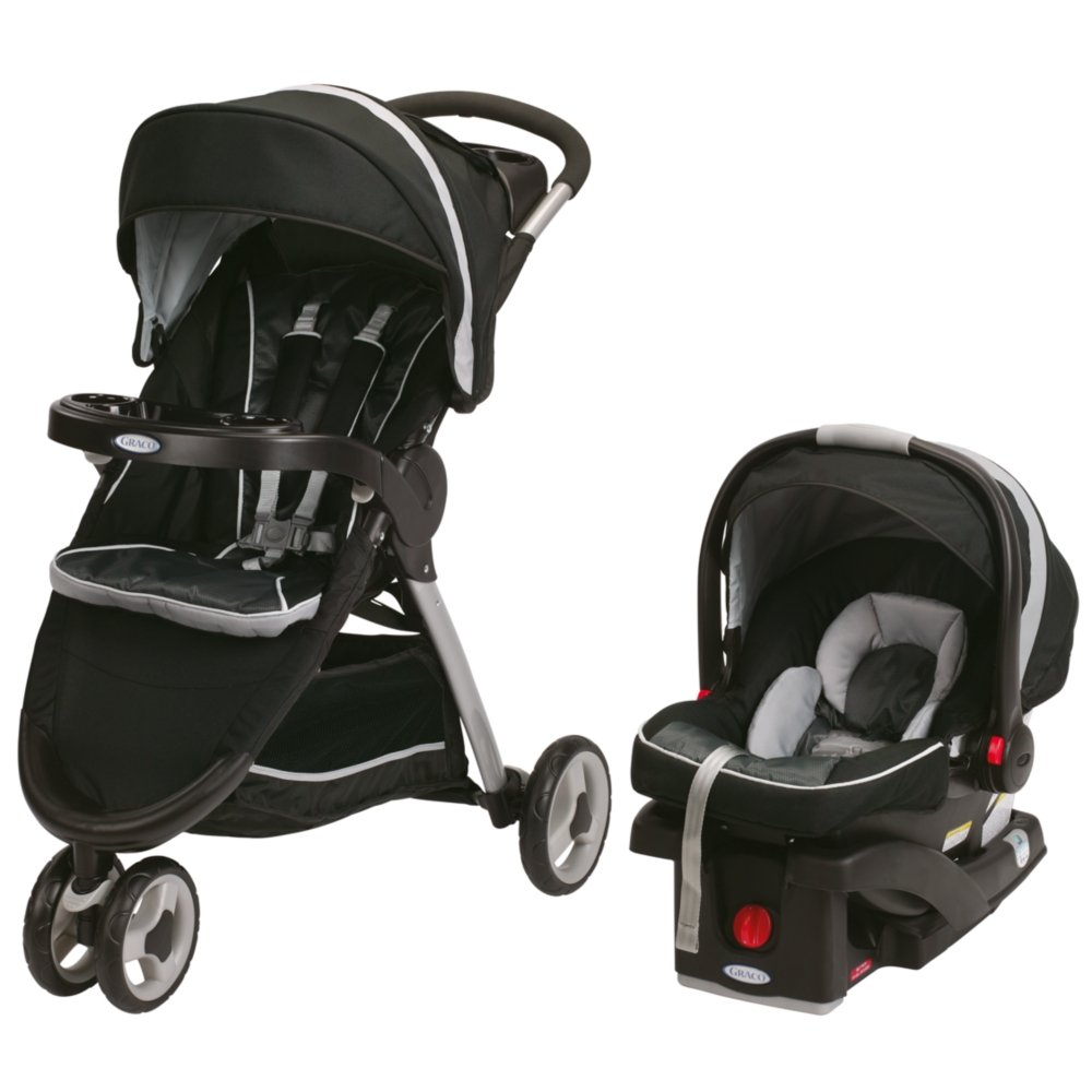 Graco Fastaction Fold Sport Click Connect Travel System Stroller, Gotham